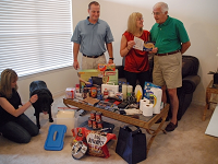 Family preparing for disasters